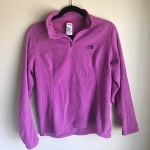 Pink Northface Fleece Quarter Zip